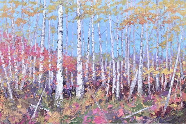 "Confetti Fall Birch - 24"" x 36"""