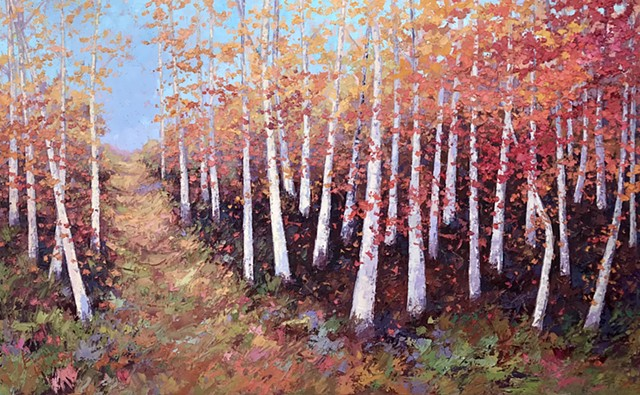 Birch Series - Autumn Stroll -SOLD