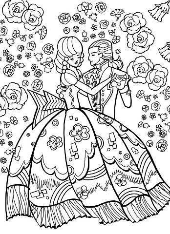 B&W Lineart, and Coloring Book Illustration