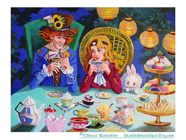Alice and Hatter Teaparty