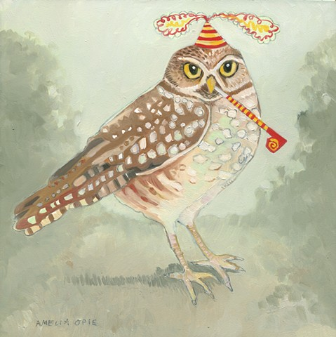 Burrowing Owl w. Party Favors