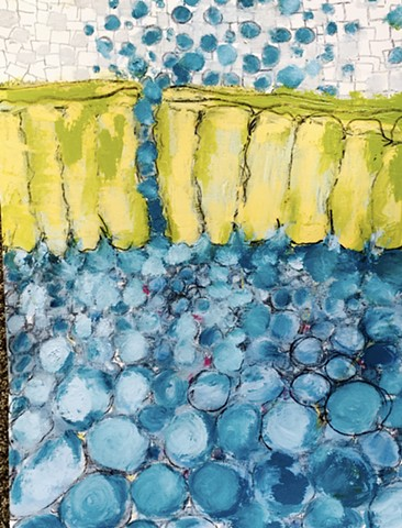 shelley lowenstein beta cells art and science biology abstracts oil bar mixed media