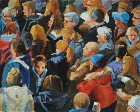 narrative figurative thanksgiving parade crowd new york lowenstein