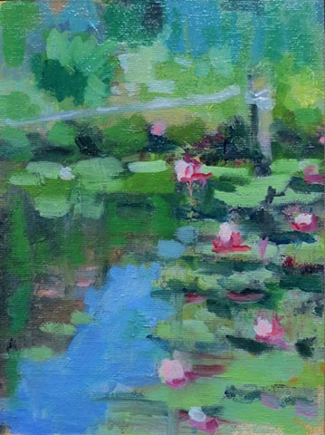 plein air lily pond france normandy landscape shelley lowenstein