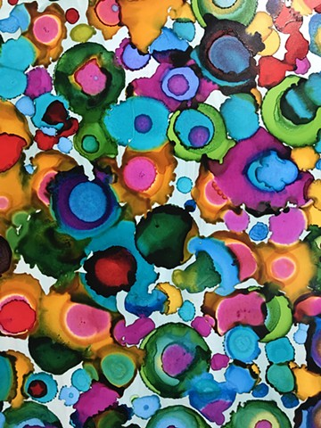 abstract mixed media shelley lowenstein beta cells science and art biology