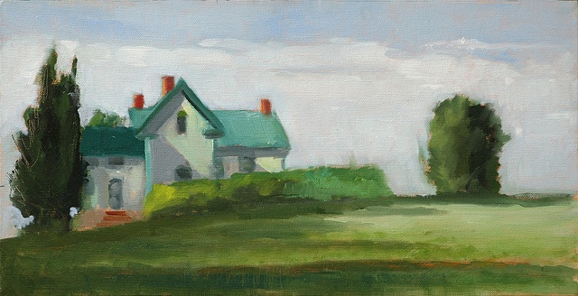 shelley lowenstein plein air oil painting landscape agricultural history farm Maryland house