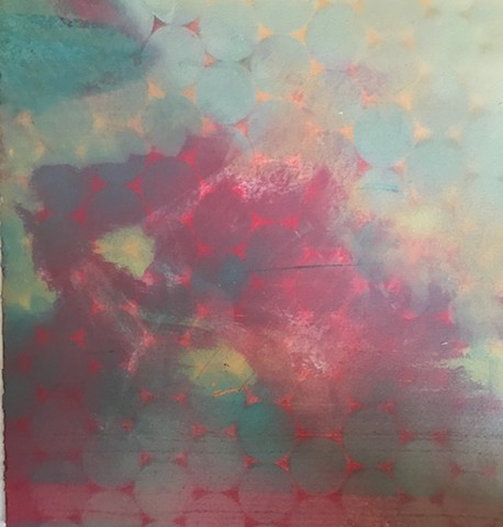 shelley lowenstein beta cells art and science biology abstracts spray paint acrylic