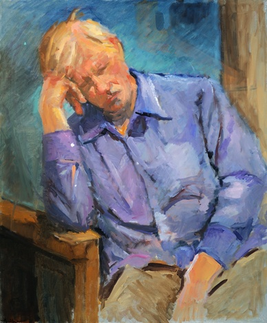 lowenstein portrait of man sleeping