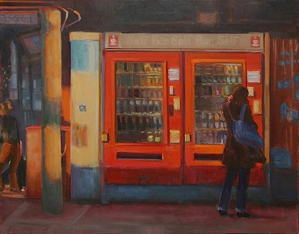 train station painting italian figurative gesture painting oil painting