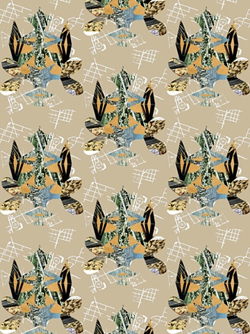 Collage, Suburbs, Damask, Print and Pattern, Textile, Laura Schneider