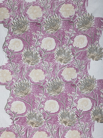 Floral, Hand Drawn, Screen Printing, Textile, Print and Pattern, Laura Schneider