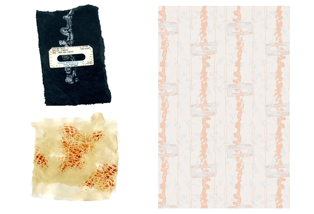 Found Object, Cassette Tape, Textile, Print and Pattern, Laura Schneider