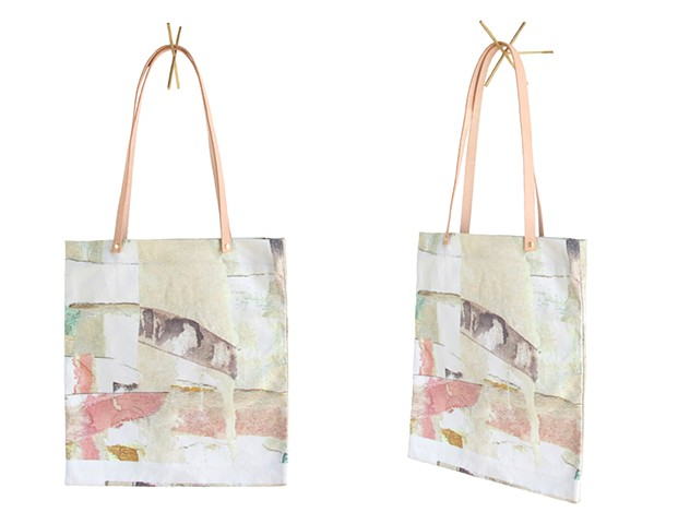 Hand sewn, digitally printed tote bag