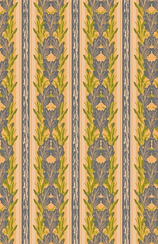Traditional, Stripe, Textile, Print and Pattern, Laura Schneider