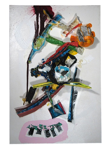 matthew miller Paint and Melted Polystyrene art