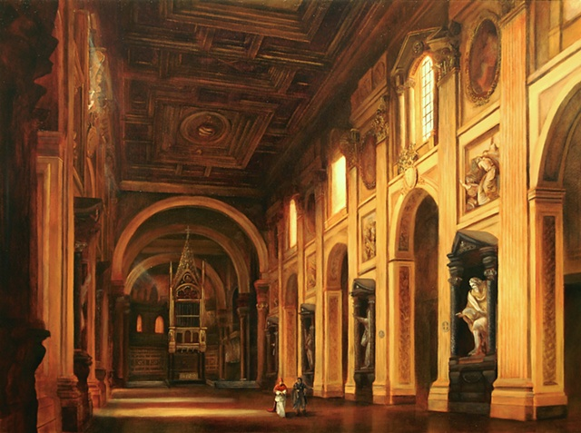 Borromini unveils the San Giovanni to Pope Innocent X