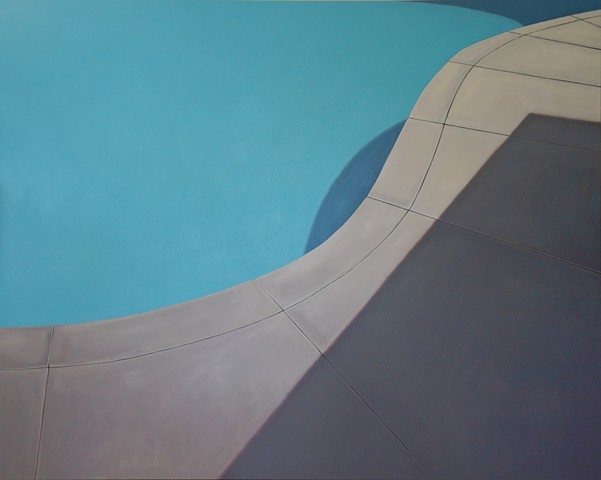 jacob cooley art painting swimming pool