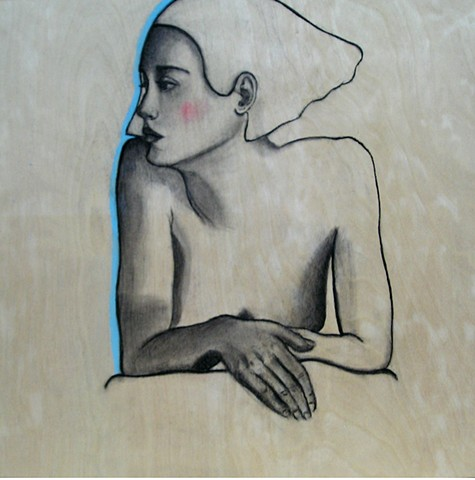 Figurative contemporary drawing