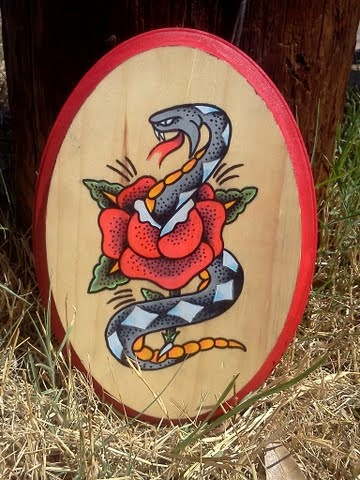 Snake & Rose (influenced by Sailor Jerry)