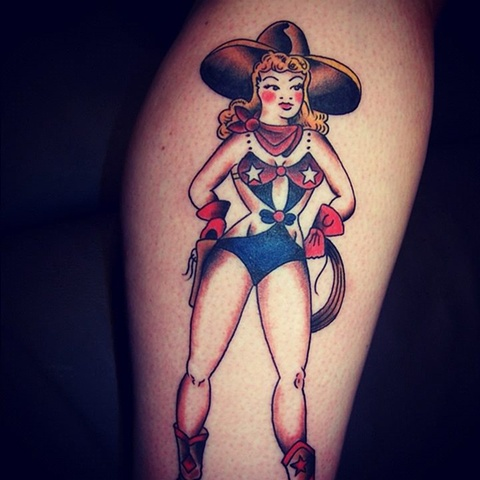 Cowgirl (Sailor Jerry)