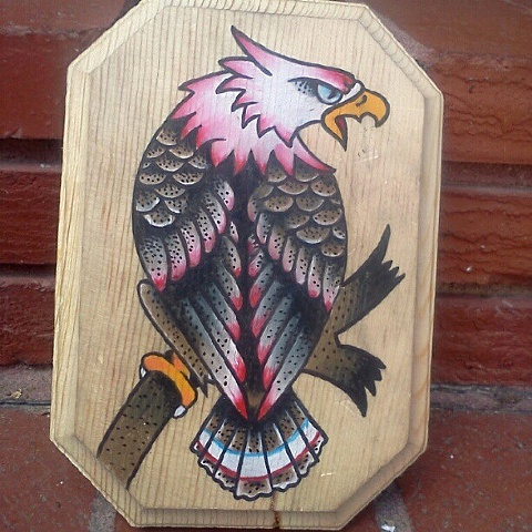 Eagle from a Sailor Jerry acetate stencil