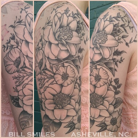 Flower Half Sleeve (Healed)