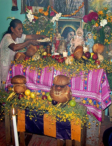 Juan's Mother at Ofrenda for His Father 0799