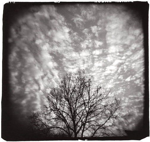 Holga photograph of sunset in Texas