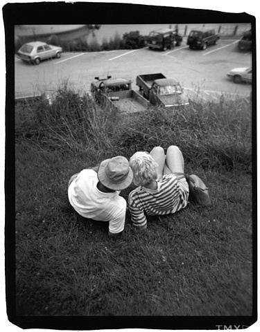 Holga photo of a couple in Maine