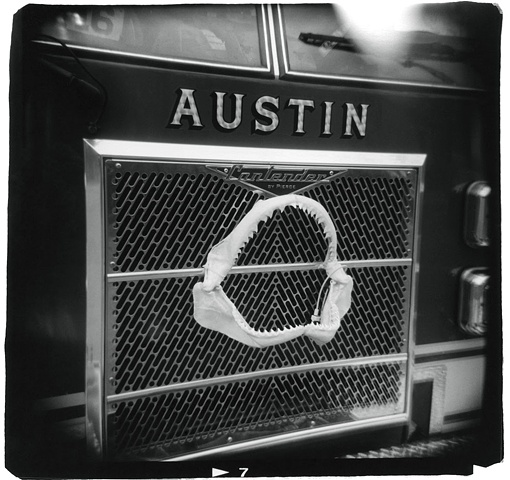 Holga photo of a fire truck in Austin, Texas