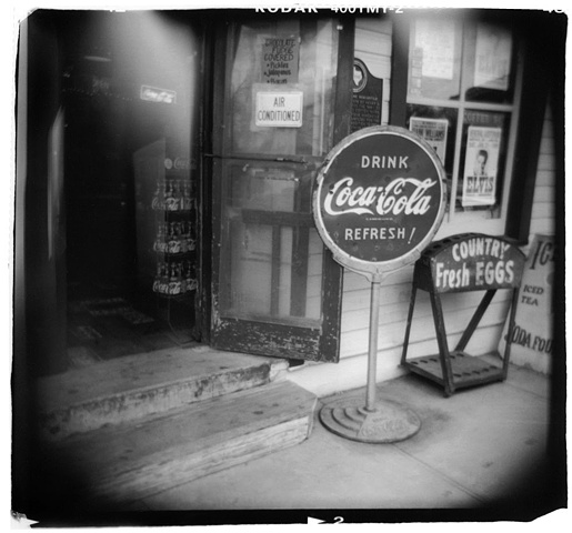 Holga photo of the Gruene General Store, Gruene Texas