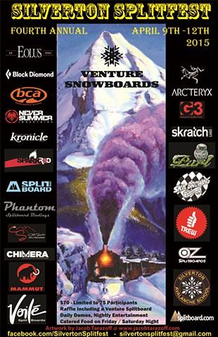 2015 Silverton Splitfest poster