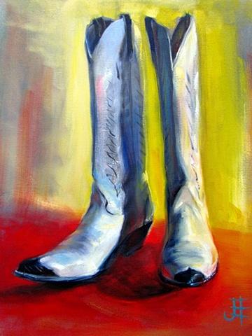 Tacky Santa Fe shake and bake Boots