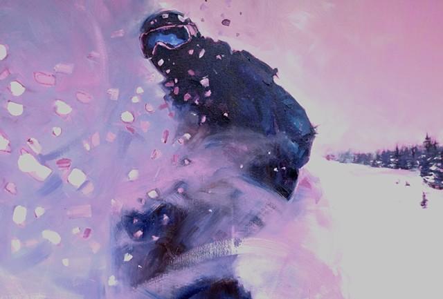 Snow Surf self portrait