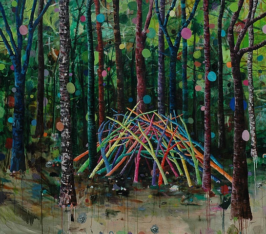This is the place in which we found ourselves.  Oil on canvas  183 x 210 cm 2006