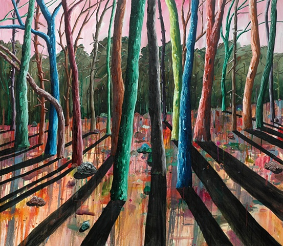 Three Hours From Sundown.  Oil on canvas 168 x 198 cm  2005