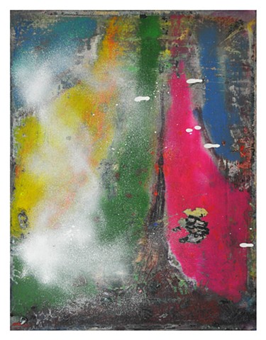 untitled oil and spray paint on linen 40 x 32 cm 2006-14