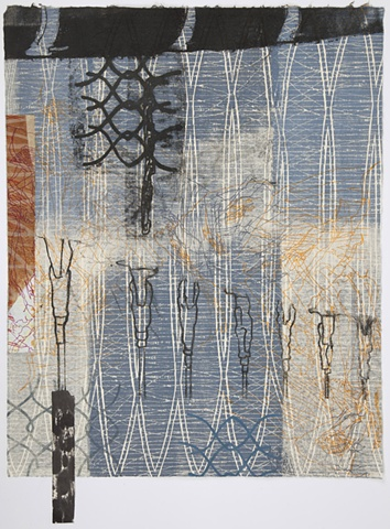 Mixed-media collage print by Sandra Butler
