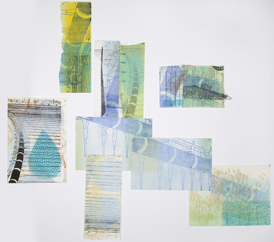 Large-scale monotype by Sandra Butler