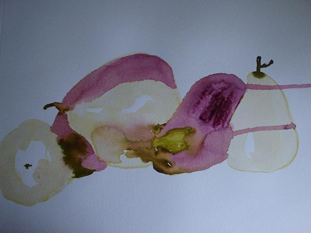 easy aubergines pears