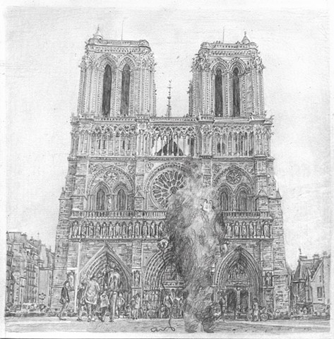 Untitled (Tseng Kwong Chi, Paris, France (Notre-Dame), 1983)