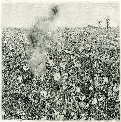 Untitled (Tseng Kwong Chi, Cotton Field, Tennessee, 1979)
