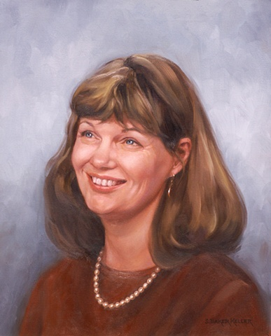 Oil Portrait of a Teacher by Sally Baker Keller