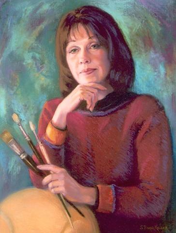 Pastel Portrait of an Artist by Sally Baker Keller