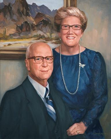 Oil Portrait of Couple by Sally Baker Keller