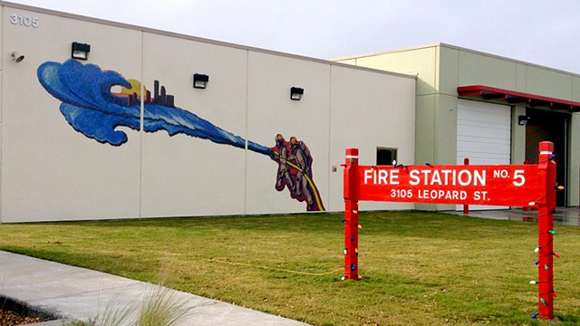 Protecting...Serving... Caring Mural View at Firestation #5