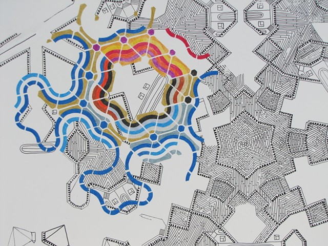 Kaleidoscopic City/ Food Forest Interface Detail