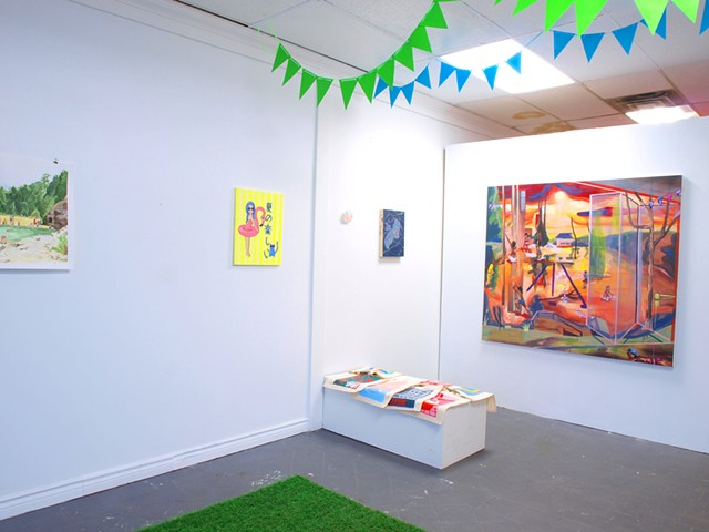 Installation shot of 'Pool Party'