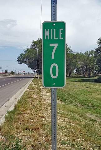 birthday cards, digital photo, New Mexico scenery, milestones, mile markers,