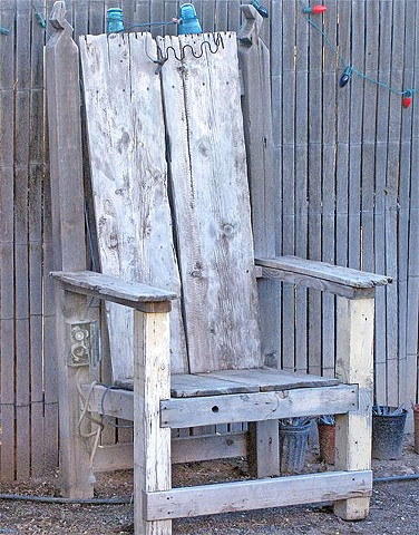Recycled Wood Furniture, repurposed, wood, electric chair